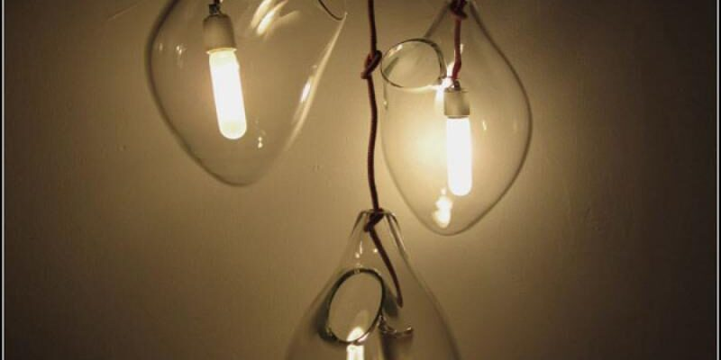 Лампа светильник из стеклянного сердца Blinding Love Pendant Lights