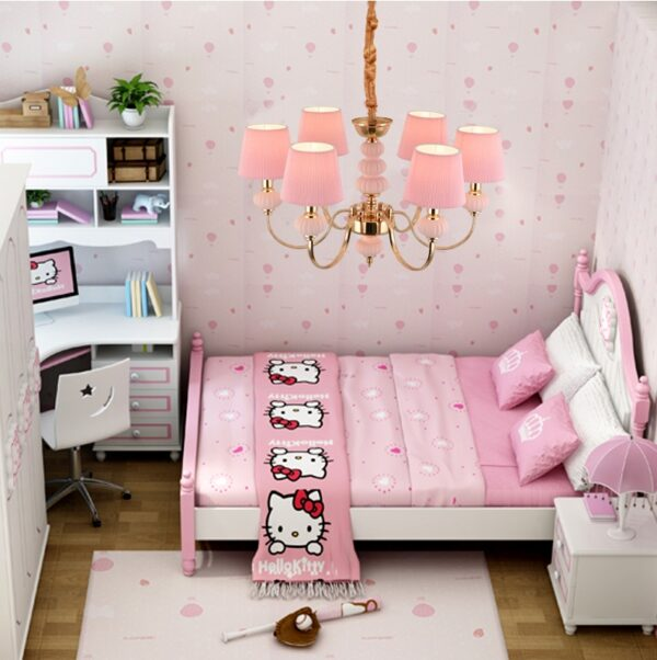 Рожковая люстра Oriental Pink
