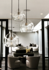 Одноламповая серия подвесных люстр Pleated Crystal