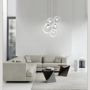 Одноламповая серия подвесных люстр Clear bubbles