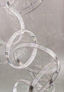 тросовая серия люстр Circle Chrome Crystal