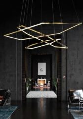 Подвесная серия люстр Geometry Gold Lamp