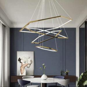 Led люстры Geometry Gold Lamp