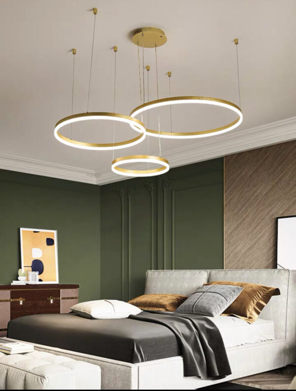 Тросовая серия люстр Kukho Golden Circle Lamp