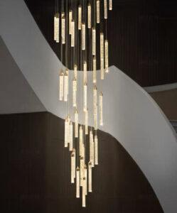 Тросовая серия классических люстр Tube Led Long Lamp