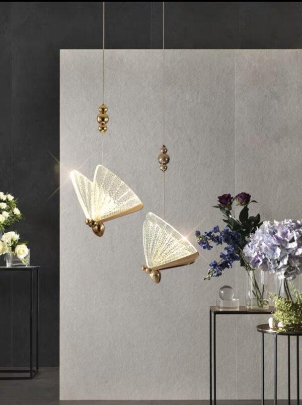 Подвесная серия одноламповых светильников в стиле Арт-Деко Golden Apis