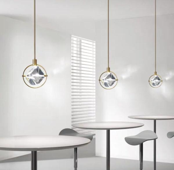 Серия подвесных люстр в стиле Арт-Деко Rubik Circle Lamp