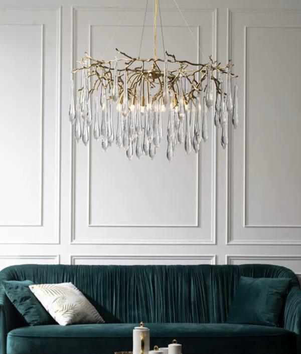 Подвесные люстры в стиле Арт-Деко Aqua Crystal