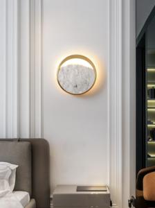 Настенные светильники Marble Wall Circle Lamp
