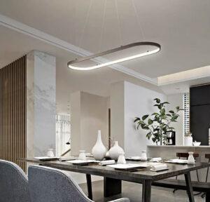 Тросовая серия люстр Oval Led Lamp