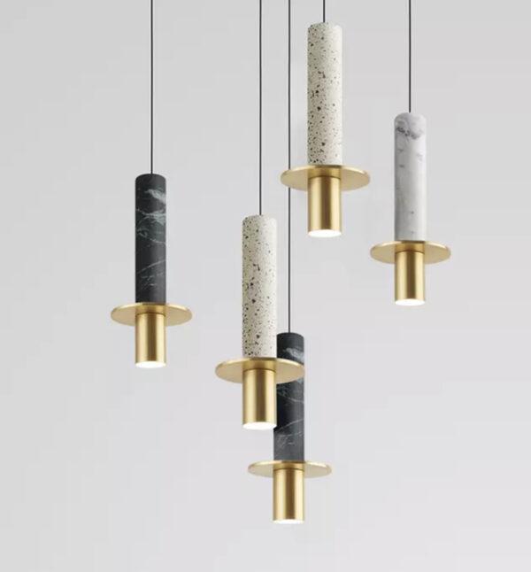 Подвесные люстры Marble Tube Lamp